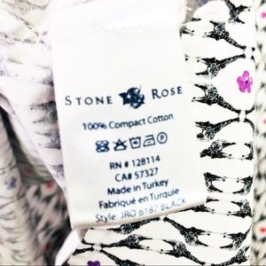 Stone Rose Tops - Stone Rose Floral Print Button Down Shirt
